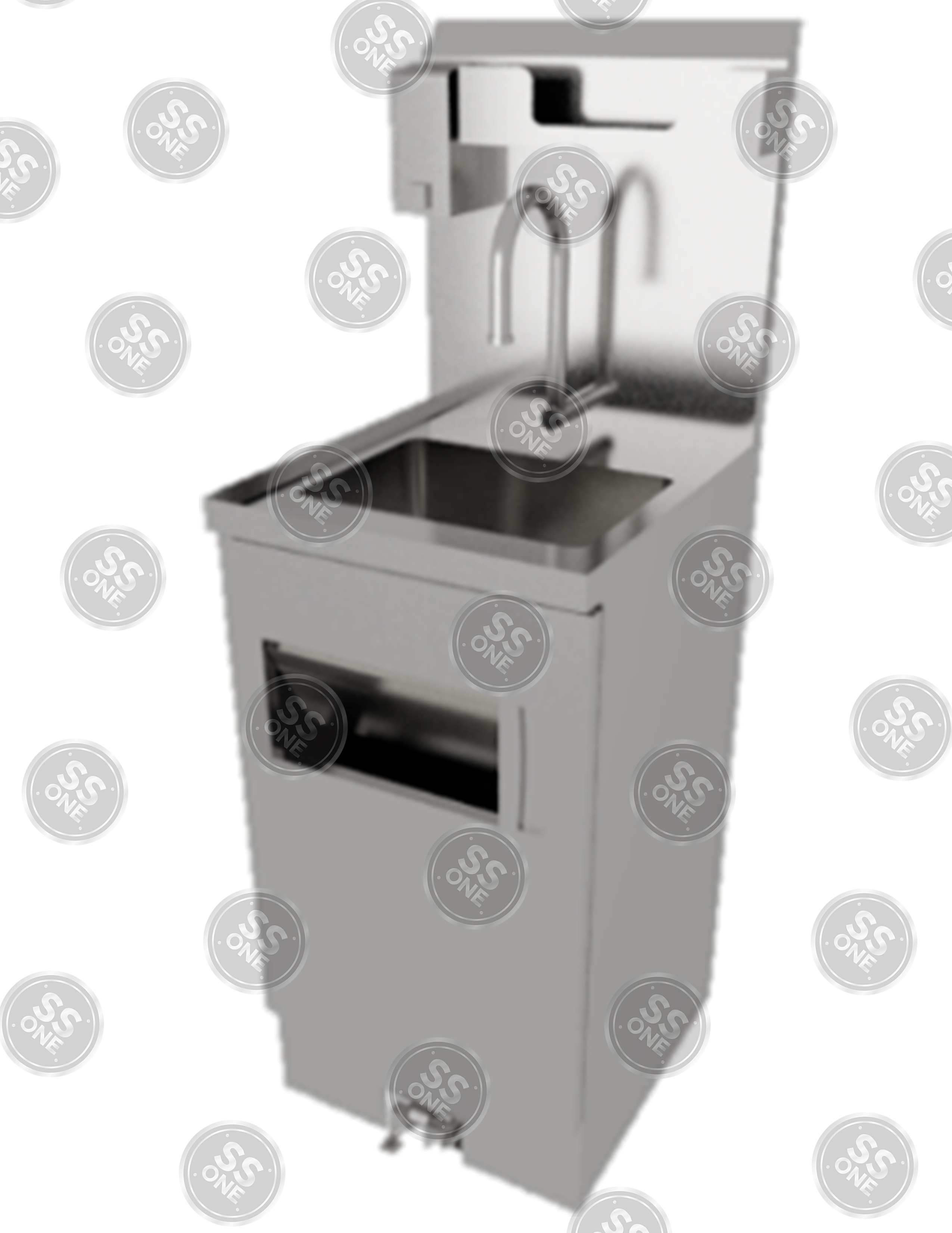 FOOT OPERATED HANDWASHING SINK (WITH SOAP AND TOWEL DISPENSER)