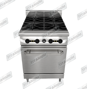 4 OPEN TOP RANGE W/ OVEN