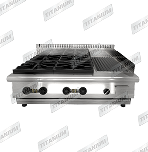 COMBINATION OPEN TOP WITH GRILLER COUNTER TOP